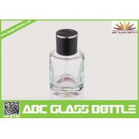 Quality High Quality Custom Glass Perfume Bottle 50ml With Black Cap Clear Color wholesale