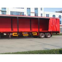 Quality Flame Retardant Soft Trailer Tarpaulin Side Curtain Rain Proof Easy To Open wholesale