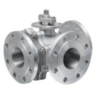 Quality RF Lever Operated 3 Way Ball Valve Stainless Steel ANSI 150LB 1/2 to 24 wholesale