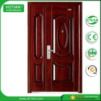 Quality American Style Plastic Steel Door Exterior Door Security Door Metal Door for Keeping Home safety wholesale