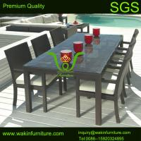 China 7 pc Outdoor Wicker Dining Table Set Patio on sale