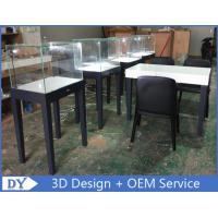 Quality Wholesale large quantity modern fashion simple wooden gray color exhibition display cases with lock wholesale