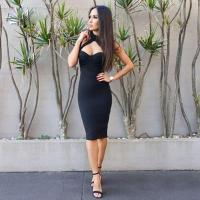 Quality Spaghetti Straps Halter Bandage Dress For Party / Club / Celebrity wholesale