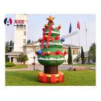 Cheap Set Snowman Inflatable Christmas Decorations Santa Car Blow Up Tree For Holiday for sale