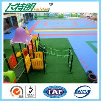 China ISO Rubber Playground Mats PP Interlocking Suspension Floor High UV Resistant Anti Aging on sale