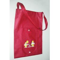 Quality Red Promotional Recycled Customized Reusable Shopping Bags with One Shoulder Strip wholesale