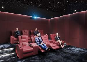 Quality Red Electric  Leather Cinema Sofa  For Home  Cinema System With Screen / Speaker/ Projector wholesale