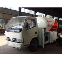 China hot sale dongfeng 95HP 5500 liters lpg dispenser truck, CLW 95hp lpg gas dispensing truck on sale