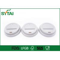 Buy cheap Biodegradable Plastic Paper Cup Covers , Disposable Cup Lids Shapes Customized from wholesalers