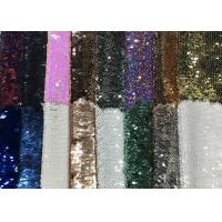 Cheap Reversible Colorful Mermaid Sequin Fabric , Silver Sequin Material Custom Made for sale