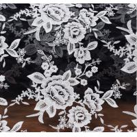 Cheap Mesh Embroidery Fabric Fashion Lace for Bridal Dress Black Ivory Double Color for sale