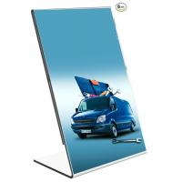 Cheap wholesale Hot sell Acrylic 8.5 x 11 Slanted Sign Holders with 6 packs for sale