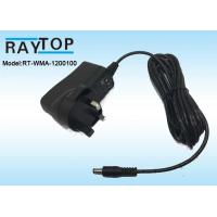 Cheap UK Plug 12v wall adapter 1000mA , CE ROHS AC DC Adapter High Efficiency for sale