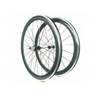 Quality 700C 3K Glossy Carbon Alloy Wheels Clincher 50MM Powerway R13 Hub 20 / 24H wholesale