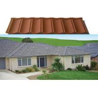 Buy cheap Durable Waterproof Stone Coated Metal Roofing Tile , black / red / green roofing sheet product