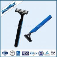 Cheap Sensitive Skin Good Max Razor Twin Blade Disposable Razor With Non - Slip Handle for sale