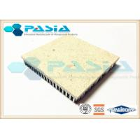 China Aluminium Honeycomb Sandwich Panel , Thin Limestone Veneer Panels Flame Resistance on sale