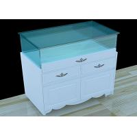Quality White Lacquer Painting Custom Glass Display Cases Wooden Display Plinth wholesale