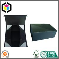 China Matte Black Color Print Collapsible Rigid Paper Gift Box on sale