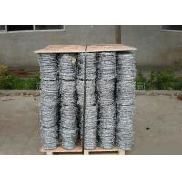 Quality Anti Climb Cross Wire Fence Sharp Coiled Barbed Wire For Government Buildings wholesale