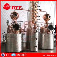Quality 500L Manual Wine Alcohol Distiller Tower With Stainless Condenser wholesale