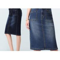 Quality Fashion style regular custom size gored Jeans Elastic Slim Women denim skirt wholesale