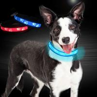 Quality C903 Wholesale Abs Plastic Glowing Dog Collar Led USB Rechargeable Safety Collar wholesale