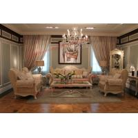 Quality Luxury French-type Sofa set made by Wooden Carving Frame with Fabric Upholstery wholesale