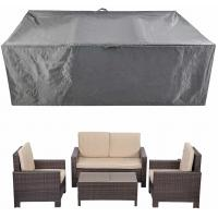China Patio Furniture Set Covers Waterproof Outdoor Table Covers Sectional Conversation Loveseat Sofa Set Covers on sale