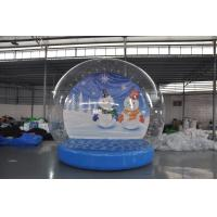 China Stock on sale inflatable snow show balls, Christmas snow globe,inflatable Christmas display ball for decoration on sale