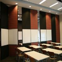 Quality Floor to Ceiling Acoustic Room Dividers Flexible Wooden Office Folding Partition Wall wholesale