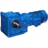 China K Series Helical Bevel Gear Motor Speed Reducer  Blue Cast Iron Gear Box on sale
