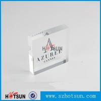 Cheap OEM brand logo solic acrylic block, Lucite/PMMA promotion block stand for sale