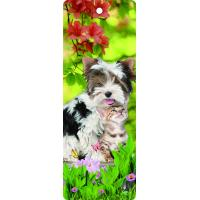 Quality Custom Lovely Dog Lenticular 3D Animal Bookmarks With Tassel For Gifts And Souvenirs wholesale