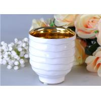 Quality Votive Personalized Candle Holder Ceramic , White Porcelain Candle Holder wholesale