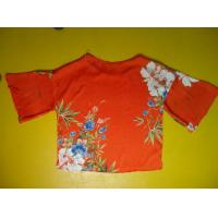 Quality Floral Printing Womens Loose Fitting Tops Flare Sleeves Round Neck 100 Silk Blouse wholesale
