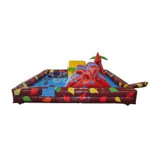 China Double Inflatable Slide Bouncer Funcity Children Amusement Park on sale