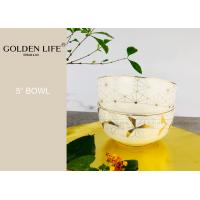 China 5 Inch Ceramic Plate Bowl AB Grade Quality Level With Modern Real Gold Pattern on sale