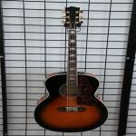 Quality China handmade OEM J2001 sunburst acoustic guitar with EQ wholesale