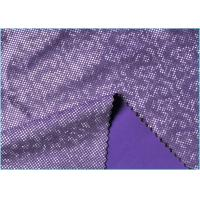 Quality Purple Milk Silk Touch 4 Way Stretch Mystique Spandex  Fabric , Shatter Ice Crysta Looklike Fabric wholesale
