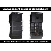"Quality 380W Compact Double 8"" Line Array Speaker For Installation , Church , Conference, Nightclub wholesale"