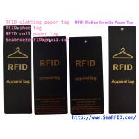 China RFID Clothes Paper Tag, RFID Garments Tag, RFID Apparels Tag, RFID Clothing Security Paper Tag, Suitable for Bag, Gift on sale