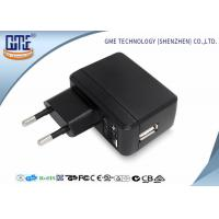 Quality Phone Charging 2 Round PIN 5V 2A Single Usb Plug Adapter With Energy Class VI wholesale