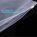 Quality PP Flat Slider Zipper for PP Zipper Bag, Cloth package PE slider zip bag, Apparel Garment Clothing package PE slider zip wholesale