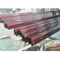 China Custom Extruded Aluminium Sliding Door Track Extrusions /  Section on sale