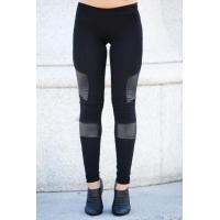 Quality Black Women'S Fashion Leggings PU Leather Leggings 92% Cotton 8% Spandex wholesale