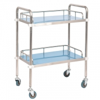 China Hospital Surgical Instrument Trolley Stainless Steel Dressing Trolley on sale