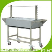 China Charcoal barbeque grill stainless steel charcoal BBQ spit rotisserie With 7 skewers on sale