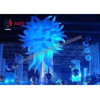Cheap Blow Up Aska Lighting Tower Hanging Inflatable Stars Party Decoration Polygon Shape for sale