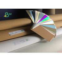 China Top Rose Gold / Silver Back Brown Washable Kraft Paper 0.55mm Thickness on sale